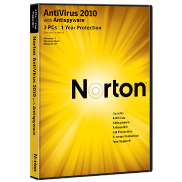 NORTON Anti Virus 2010 1 User