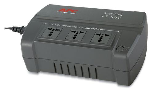 Type BE500R - AS BACK UPS ES 500VA. OUTPUT : Output Power Capacity : 300